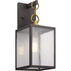 The Lahden - One Light Small Outdoor Wall Lantern by Kichler Lighting features an oversized chain link detail in an updated classic look with its carriage inspired design in Weathered Zinc finish and clear seeded glass. A perfect addition in several aesthetic outdoor environments, including traditional and transitional. Visit PatioProductsUSA.com to purchase now! #outdoorlighting #patiolighting #porchlighting Outdoor Wall Lantern, Outdoor Wall Sconce, Outdoor Wall Lighting, Outdoor Walls, Sconce Lighting, Lighting Ideas, How To Clean Metal, Beveled Glass, One Light