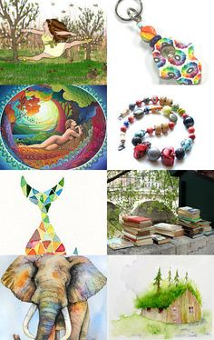Jump for Joy into Spring - Etsy Treasury by Vanessa --Pinned with TreasuryPin.com