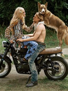 OMG   paint it wild: caroline trentini, anna ewers and charlie hunnam by bruce weber for us vogue december 2014