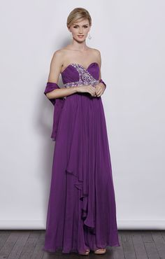 Sweetheart with beading decoration empire waist chiffon floor-length dress  Read More:     http://www.weddingspnina.com/index.php?r=sweetheart-with-beading-decoration-empire-waist-chiffon-floor-length-dress.html