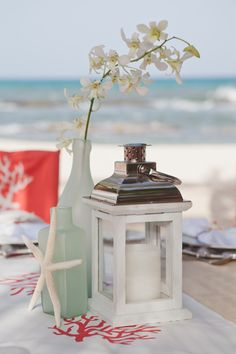 Beach-inspired decor for the perfect beachfront wedding. Memorable Moments Signature Wedding Collection™ by Karisma– Unveiling October 2013 #DestinationWedding