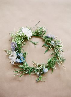 What's a seafoam goddess without a rosemary crown... Dew of the sea crown? Floral crown, built upon rosemary and olive branches | Em the Gem