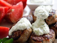 Greek Turkey Meatballs with Skinny Tzatziki Sauce (plus 19 other skinny appetizers from Skinnytaste.com)