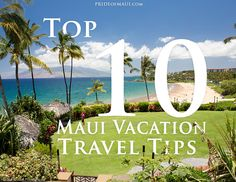 Vacation Travel Tips! #maui