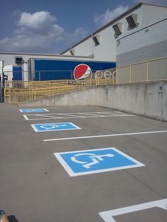 865-680-9225 Handicap Parking ADA Required Areas Painted by AAA Stripe Pro of Knoxville, TN 865-680-9225 aaastripepro@gmail.com Van Accessible Parking - Handicap Stencils