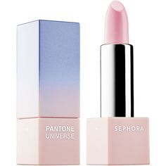 SEPHORA+PANTONE UNIVERSE Color of the Year Layer Lipstick ($18) ❤ liked on Polyvore featuring beauty products, makeup, lip makeup, lipstick, lips, beauty, moisturizing lipstick, sheer lipstick, sheer pink lipstick and sephora collection