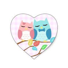 cute_cartoon_vector_owl_couple_heart_stickers-p217389253584524439bf983_400.jpg (400×400)