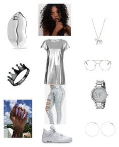 """silver suite 😻🔐🍹"" by mostroyaltrin ❤ liked on Polyvore featuring The Ragged Priest, Estella Bartlett, Chloé, Michael Kors and STELLA McCARTNEY"