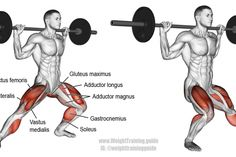 Barbell side lunge exercise