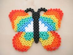 Butterfly hama beads by Lilidroopy