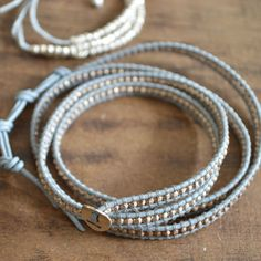 Chan Luu Silver beads Wrap Leather Bracelet – Swoon Lounge