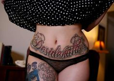 Wicked Sexy Stomach Tattoo…Its Even Flavored...Come To The Web Site For More Sexy Tattoos
