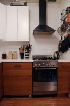 small kitchen   Cabinets: IKEA  • Stove: Elba  • Refrigerator: LG  • Faucet: Hans Grohe