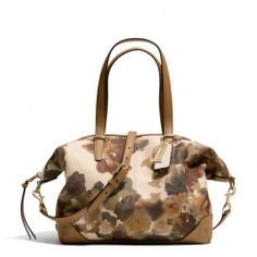 The Bleecker Cooper Satchel In Camo Print Fabric from Coach