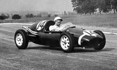 Argentine Grand Prix, January 19, 1958: The race was won by Stirling Moss in Rob Walker's privately entered Cooper T43. It was the first World Drivers Championship race win for a rear-engined car and also first win for a privateer team in Formula One and the first by a chassis built by the Cooper Car Company. Moss took his seventh Grand Prix victory by 2.7 seconds over Italian driver Luigi Musso (Ferrari Dino 246).