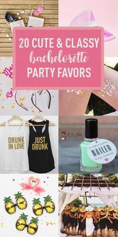 20 Cute & Classy Bachelorette Party Favor Ideas