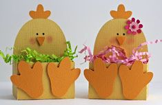 I know Easter isn't for awhile but...I do have a bunch of grandkids now so I start early.  I love these little boxes from the Silhouette St...