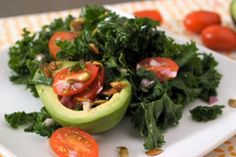 Avocado With Roasted Pumpkin Seeds and Kale Salad | The Dr. Oz Show