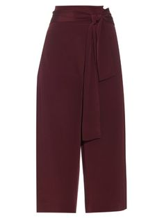 0baf15b91ceaed TIBI Tie-Front Silk Culottes.  tibi  cloth  culottes Red Trousers
