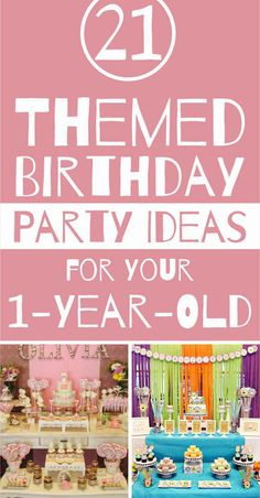 These birthday party themes are perfect for your new 1-year-old! These unforgettable ideas are perfect for celebrating your little one's first year of life.