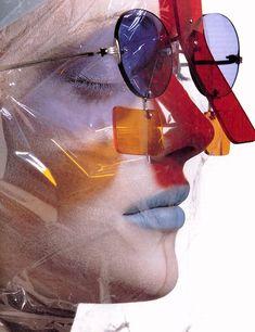 """Taking Cover"" - Issey Miyake, Vogue US, June 1995"