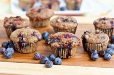 Whole Wheat Blueberry Breakfast Muffins. Who says muffins need eggs and refined sugar? These are amazing!