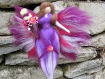 Birthday fairy LEA, waldorf inspired, wool fairy