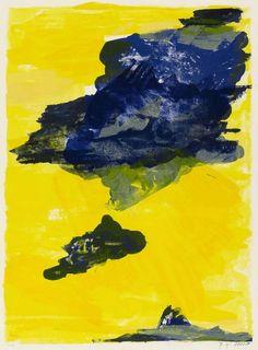 Bernd Zimmer Himmel, gelb-blau