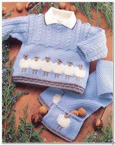 Child Knitting Patterns Child Sheep Sweater Jacket Scarf & Hat zero – 2 years DK Knitting Sample Baby Knitting Patterns Supply : Baby Sheep Sweater Jacket Scarf & Hat 0 – 2 years DK Knitting Pattern… by elkeescobar Baby Knitting Patterns, Knitting For Kids, Baby Patterns, Double Knitting, Free Knitting, Baby Sweater Patterns, Vogue Knitting, Knitting Wool, Craft Patterns