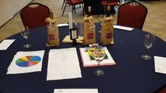 This table is set up for a team building challenge. The Savory Affair designed the wine blending activity so participants learn while having fun. This program includes intellectual, social, and business components.