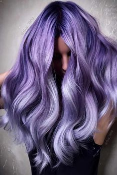 Three Shades Of Purple: Black Purple, Lavender, And Light Lilac. Purple hair color variations surprise us with their numerousness and versatility. And taking into account the increasing popularity of purple hairstyles, we think that it is time to discuss this topic in detail. So, today we are going to share with you some cool looks with purple hair! #purplehair #puplehairstyle #purpleombre