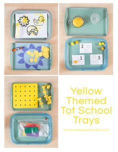Yellow and Blue Tot Trays - Moms Have Questions Too