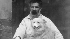 The Romanian sculptor's pet Samoyed, Polaire, was a fixture on the Parisian art scene—and an extension of his artistic identity. International Dog Day, Constantin Brancusi, Pet Cemetery, American Poets, First Photograph, Man Ray, Samoyed, White Dogs, Dog Days