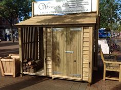 Log store with bike shed