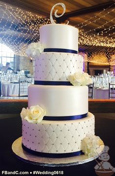 "Design W 0618 | Fondant Wedding Cake | 12""+10""+ 8""+ 6"" 
