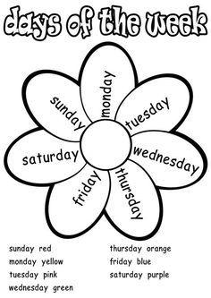 Resultado de imagen de days of the week worksheet