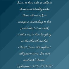Scripture of the Day 💜 Ephesians 3:20-21 💜 11/16/16