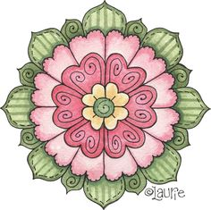 This pin was discovered by kim stephens. Mandalas Painting, Mandalas Drawing, Mandala Art, Arte Country, Country Crafts, Christmas Card Crafts, Christmas Drawing, Tole Painting, Fabric Painting
