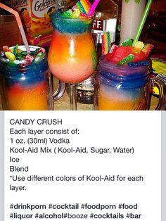 Candy Crush Slushie Cocktail ! ✨