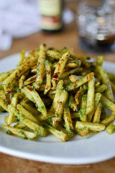 Pesto Fries with Balsamic Reduction--- I have lost my mind!!