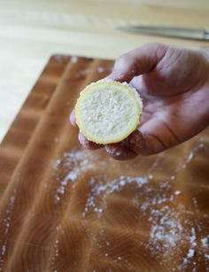 Clean wooden cutting boards with lemon and salt. | 37 Ways to Give Your Kitchen a Deep Clean