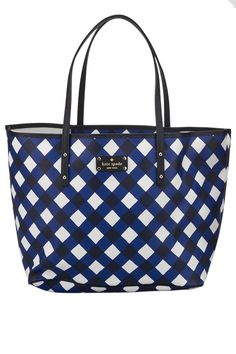 Kate Spade Medium Harmony Cosmetic Case in French Navy And Cream - Beyond the Rack