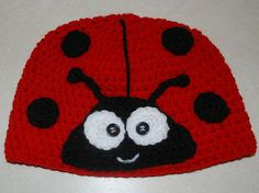 Amy's Crochet Creative Creations: Crochet Ladybug Hat - free pattern SO CUTE!
