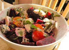 Good summer food: beetroot & blue cheese salad
