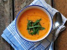 Sültpaprikás karalábé-krémleves Thai Red Curry, Paleo, Good Food, Food And Drink, Vegan, Cooking, Ethnic Recipes, Soups, Dinner Ideas