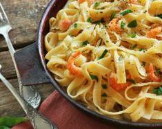 Tagliatelles minute aux crevettes, ail et citron