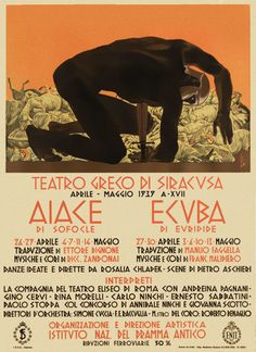 Theater poster designed by .Duilio Cambellotti (1876-1960)