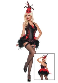 burlesque costumes for women | ... Costumes Saloon Girl Costumes Sexy Moulin Burlesque Showgirl Costume