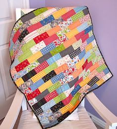 Brick quilt - great way to use up some scraps