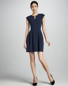 Structured Pleated Dress by Raoul at Neiman Marcus.